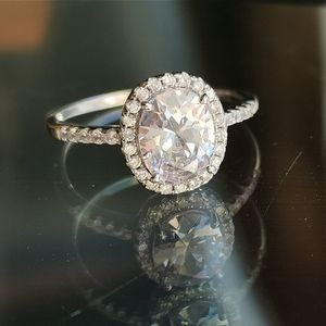 New. Sterling Silver 925 CZ Solitaire sz 8